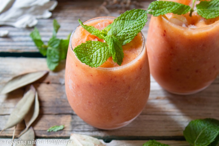 Peach Rosé Wine Slushie
