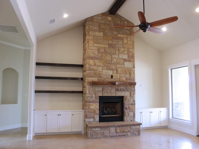 Mantle and shelves