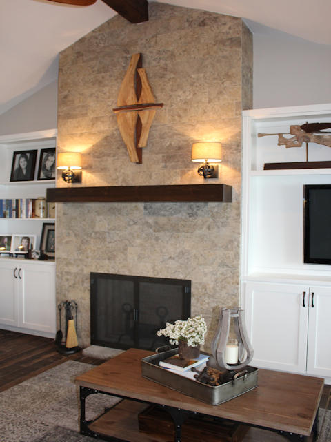 mantle above fireplace2