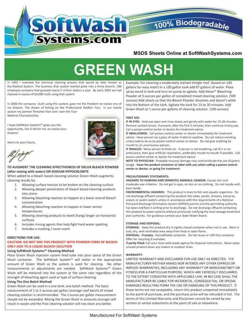 Label-SoftWash -GreenWash
