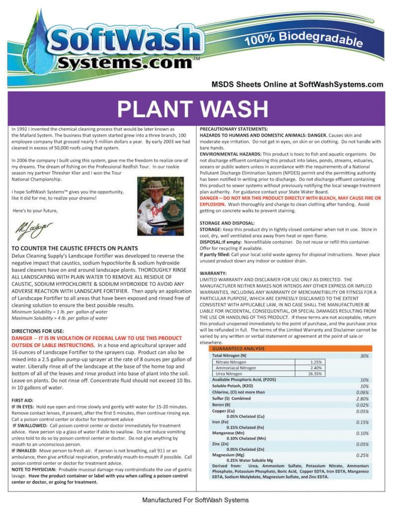 Label-SoftWash -PlantWash