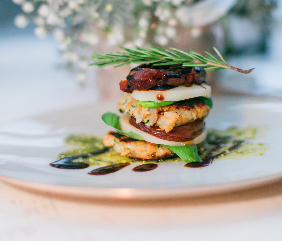 Sage Bleu Catering Caterer Oregon Coast Cannon Beach Plated Dinner Inspiration