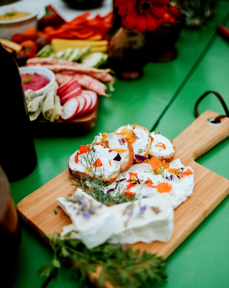 Cannon Beach Catering Flowers and Cheese
