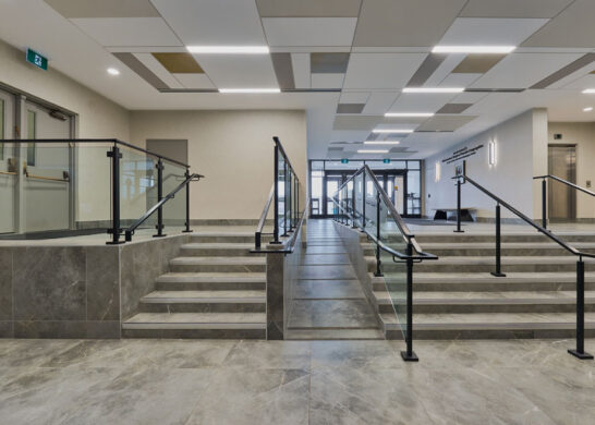 Beth Avraham Yoseph Synagogue stairway entrance