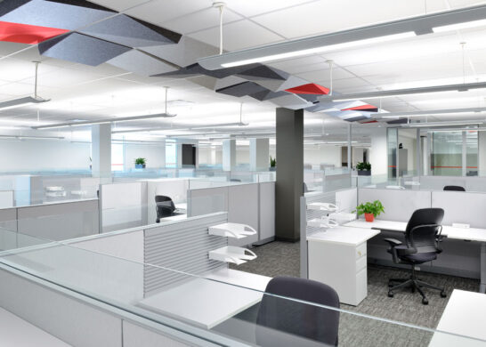DuPont Canada office - open office concept area