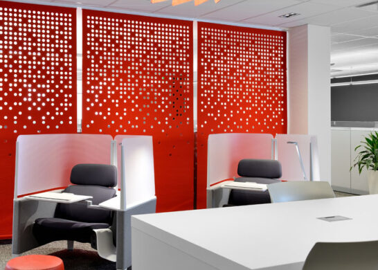 DuPont Canada office - individual desk areas