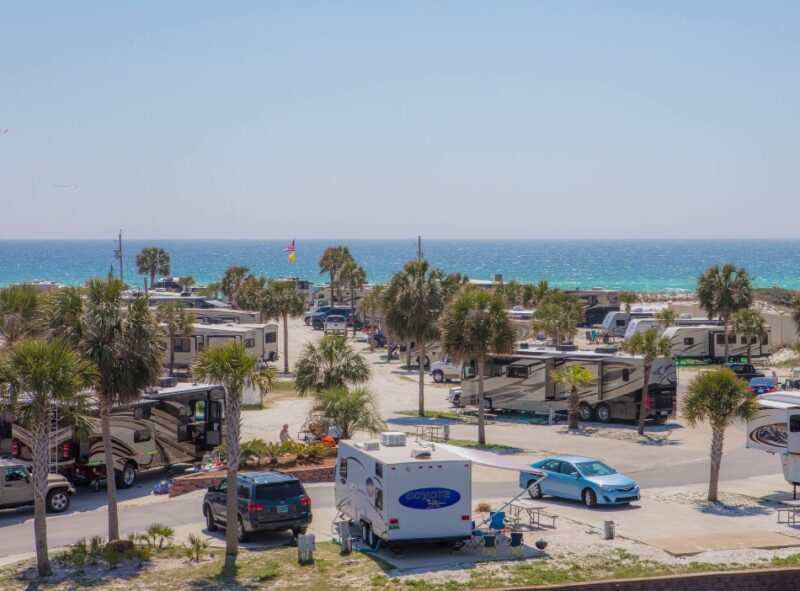 campground and rv park by the beach in Destin, Florida