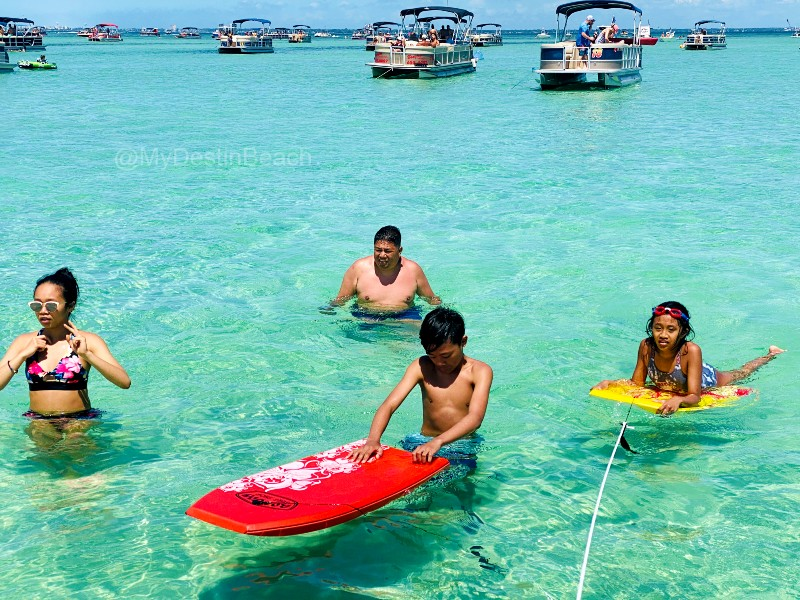 Family at Crab Island Destin, Florida
