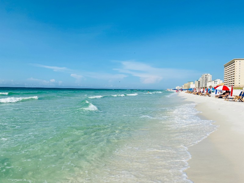 Destin, Florida white sand beaches are a relaxing getaway for the whole family.