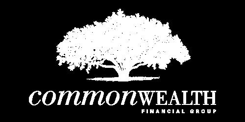 commonwealth white logo