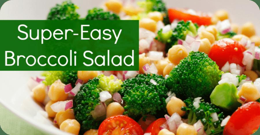 Super Easy Broccoli Salad Recipe - https://healthpositiveinfo.com/super-easy-broccoli-salad.html