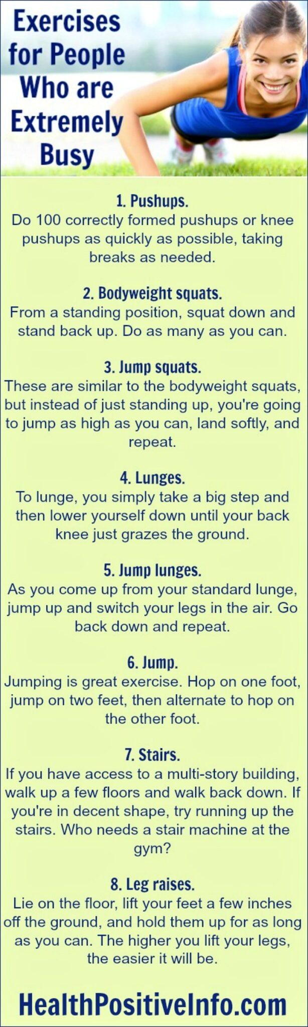 Exercises for People Who are Extremely Busy - https://healthpositiveinfo.com/exercises-for-people-who-are-extremely-busy.html