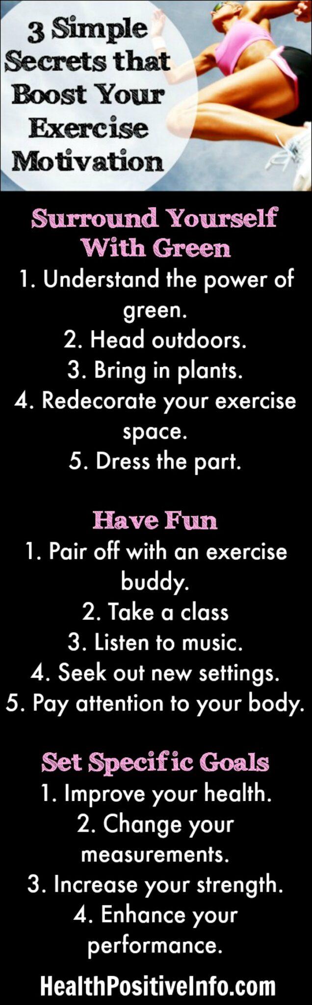 3 Simple Secrets that Boost Exercise Motivation - https://healthpositiveinfo.com/3-simple-secrets-that-boost-your-exercise-motivation.html