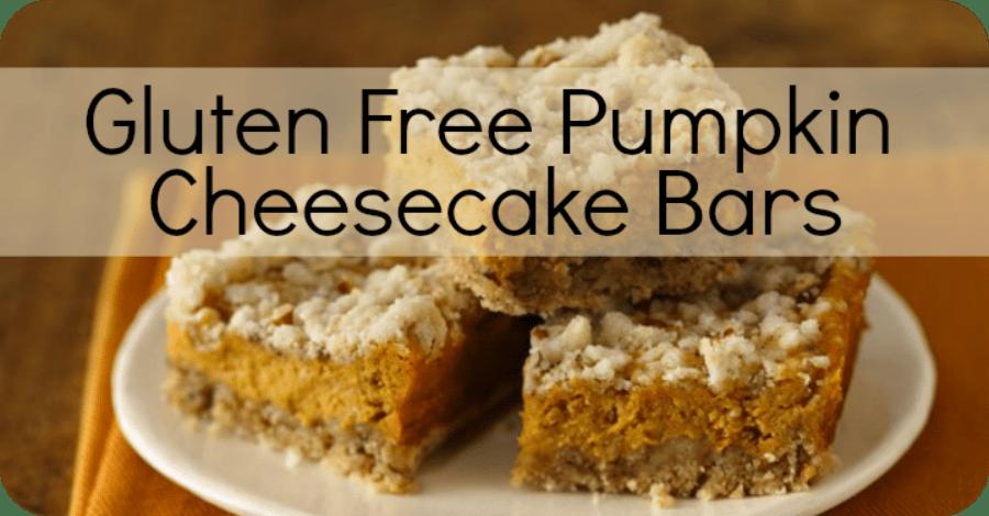 Gluten Free Pumpkin Cheesecake Bars