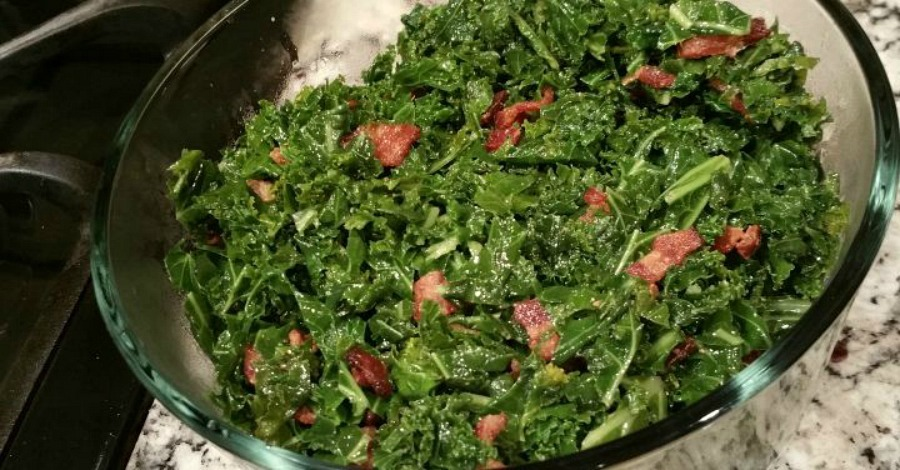 Recipe: Kale with Bacon (Crazy Delicious)