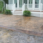 Photo of Stamped Concrete Walkway Cleaning, Treating and Sealing