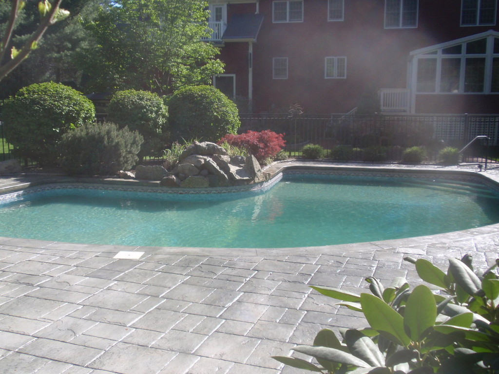 photo of Stamped Concrete Cleaning, Treating and Sealing