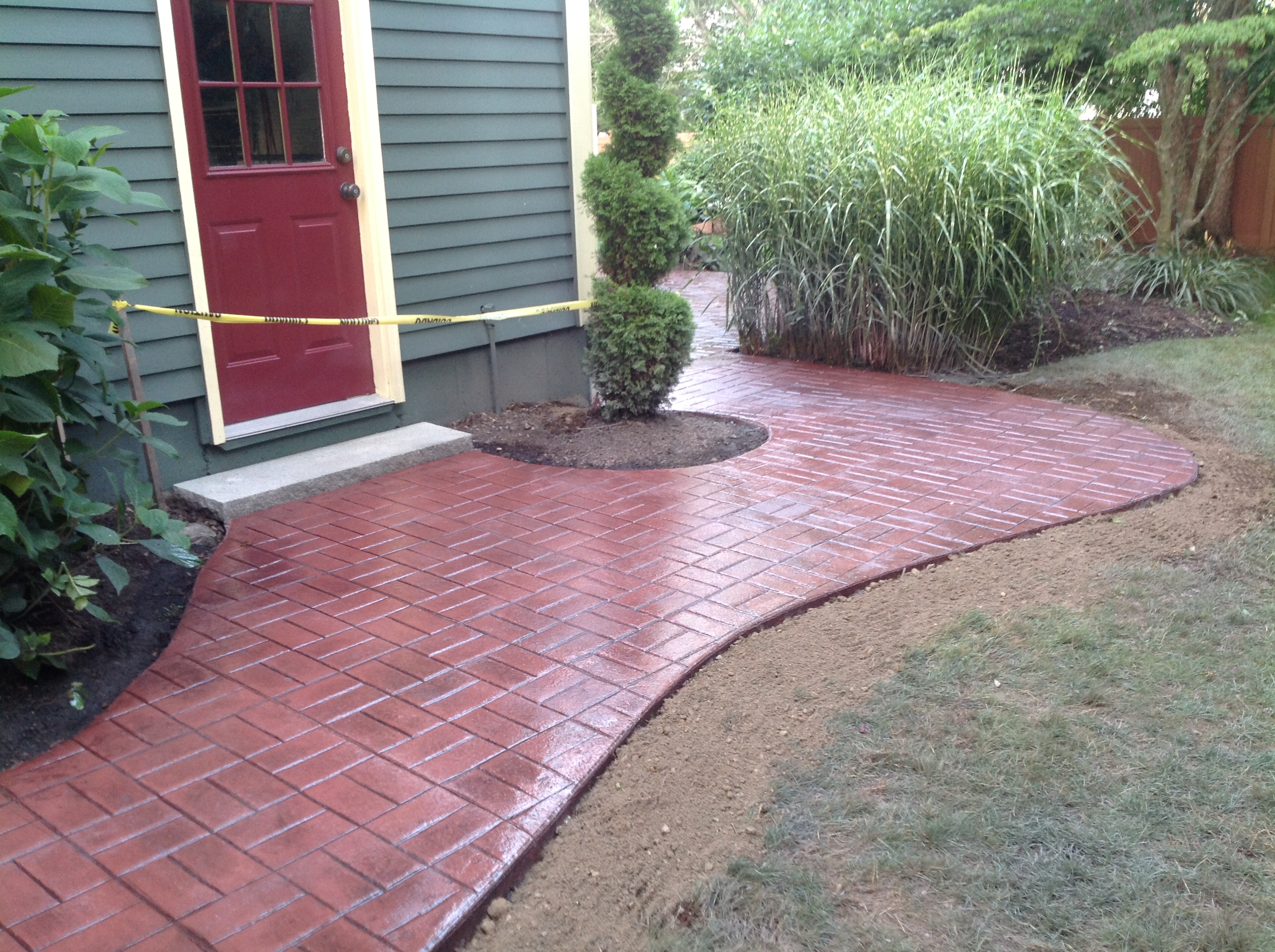 Stamped Concrete Walkway Sealing