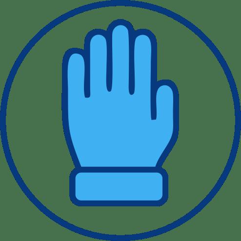 Blue Glove Icon