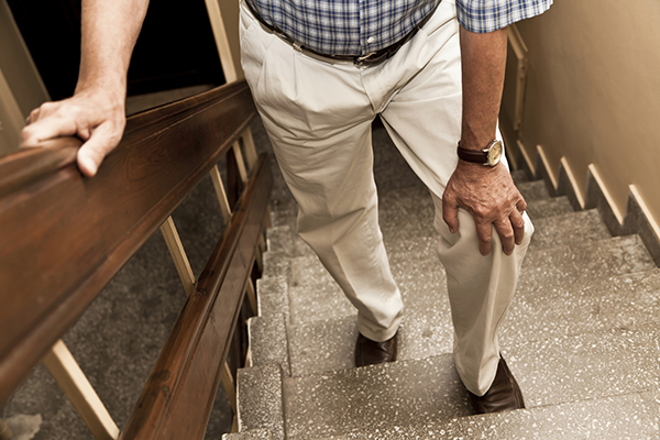 elderly man in need of arthroscopic surgery with dr. nasser ani