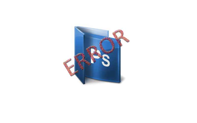 Adobe Photoshop CS6 Error