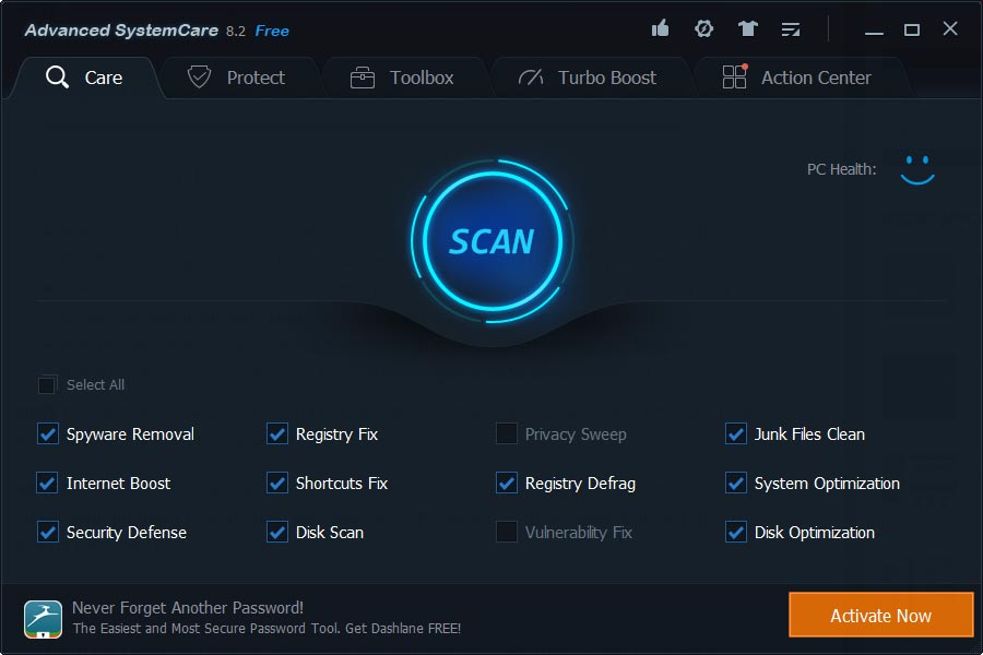 Advanced SystemCare 8.2 Free