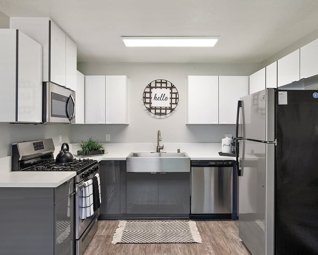 Kitchen with Stainless Steel Appliances and Fixtures