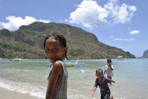 Kids in Philippines on our first trip to Asia