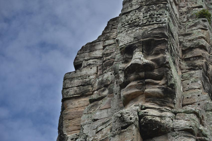 One of the many faces of the Bayon Temple