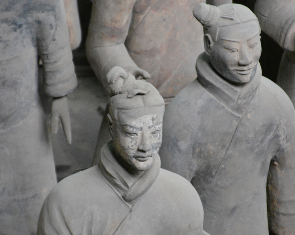 The realistic faces of the Terracotta Army