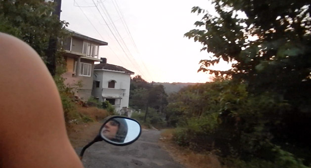 We are a 5 minute, downhill motorbike ride away from the beach.