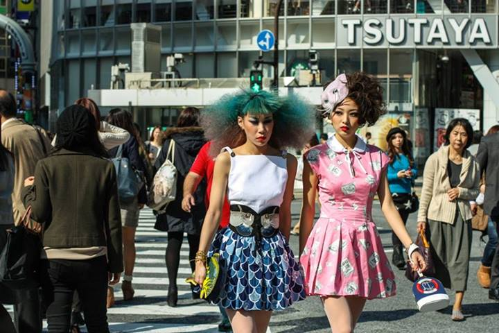 """From James: My submission was taken at Shibuya Crossing (Tokyo), the busiest crosswalk in the world. Somehow these two managed to stand out in a big way in the sea of faces. Some people just have """"it""""."""