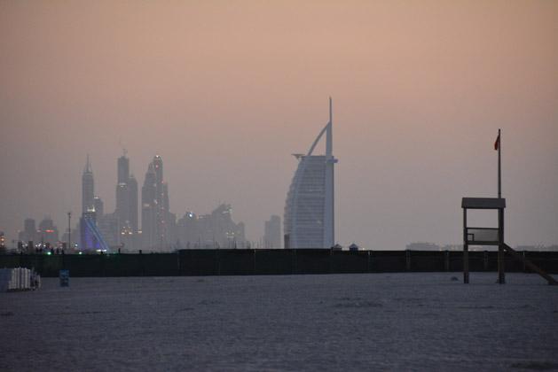 View of the Burj Al Arab Hotel from Jumeirah Beach.