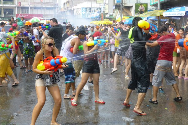 From Shane: My submission here is a bit better though, I hope. During Songkran the whole of Chiang Mai goes bonkers. I literally had to fight my way through the crowds for three hours to get to this spot and take this shot.