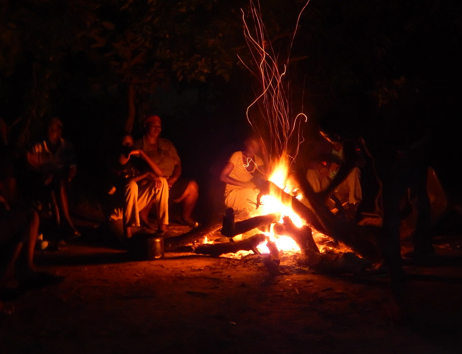 Our campfire moments before the dancing began.