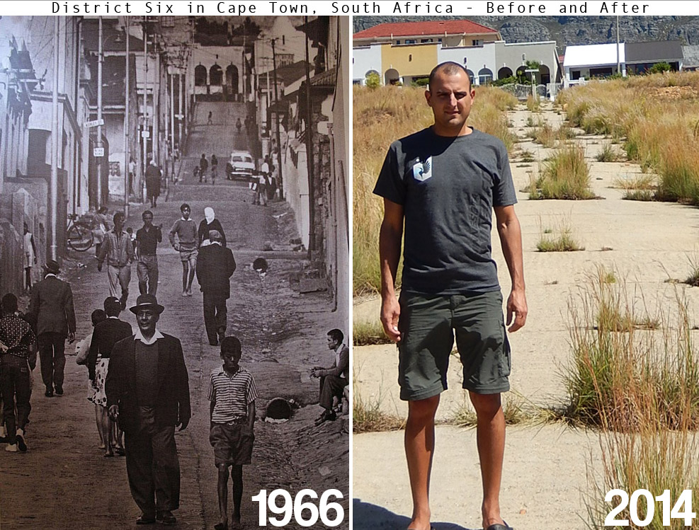 Before and after of Richmond Street in Cape Town's District Six