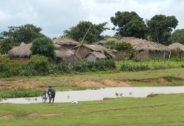 A roadside village in Zimbabwe.
