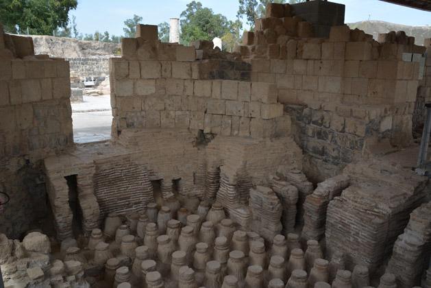 Ruins of an ancient Roman bathhouse.