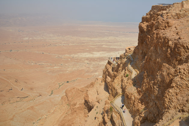 View from the top of Masada.