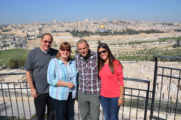 Our first view of the Old City of Jerusalem.