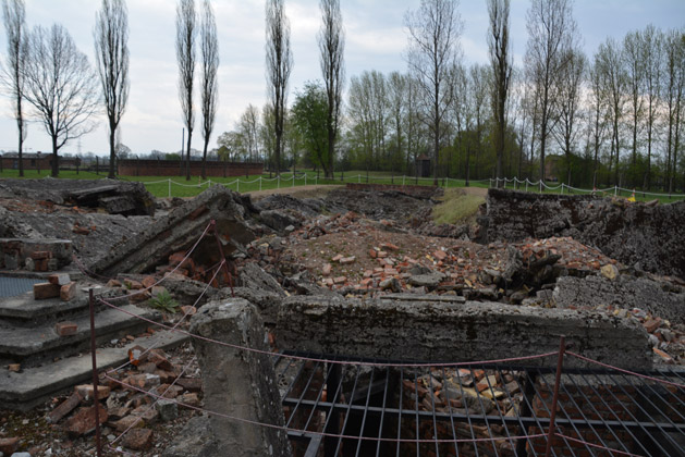 Ruins of one of two gas chambers at Birkenau.