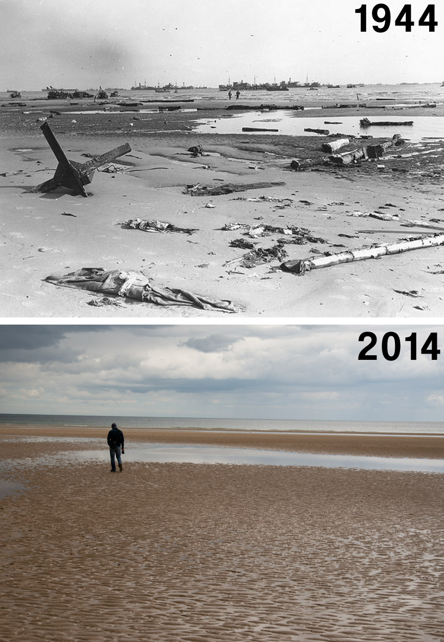 low-tide-normandy-then-now