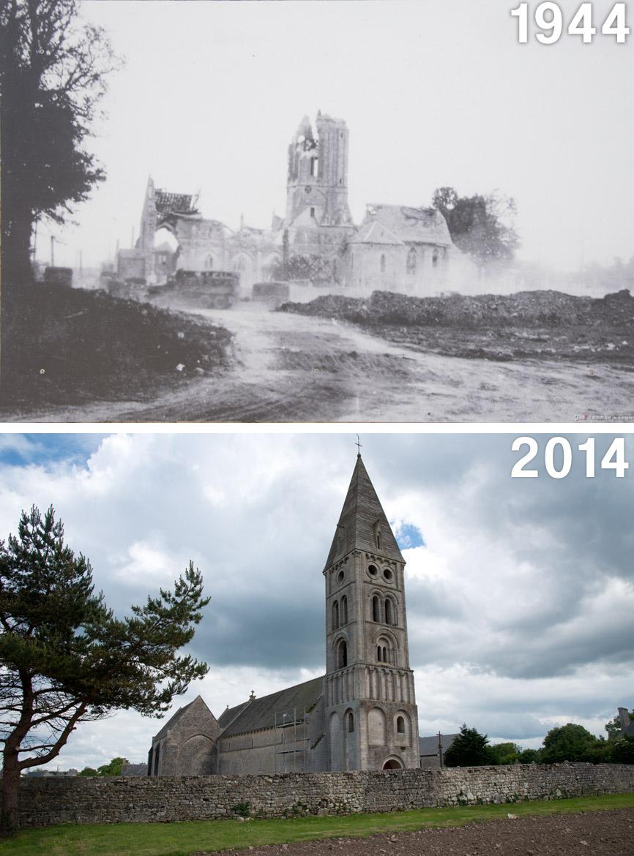 vierville-sur-mer-then-now