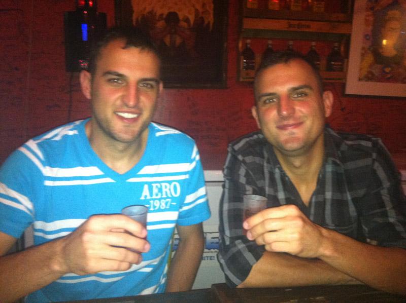 Tequila shots at El Chupacabra in Manila.