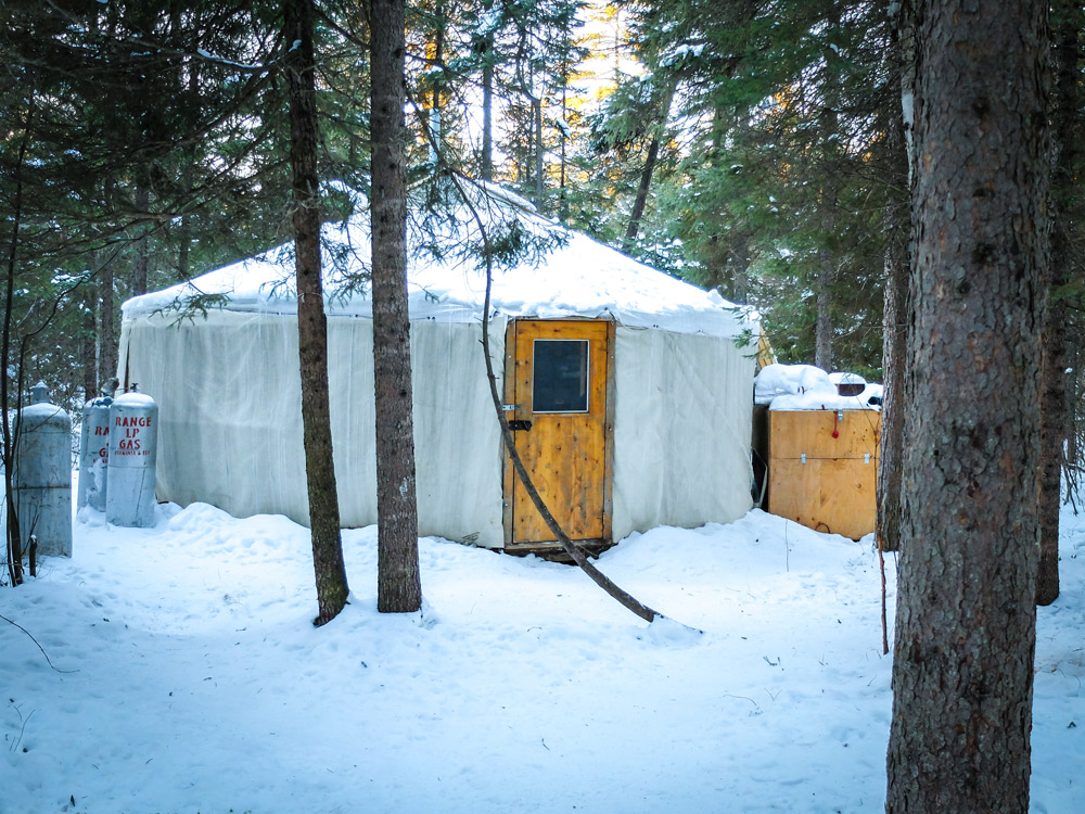 The Yurt.  Our home for the night.