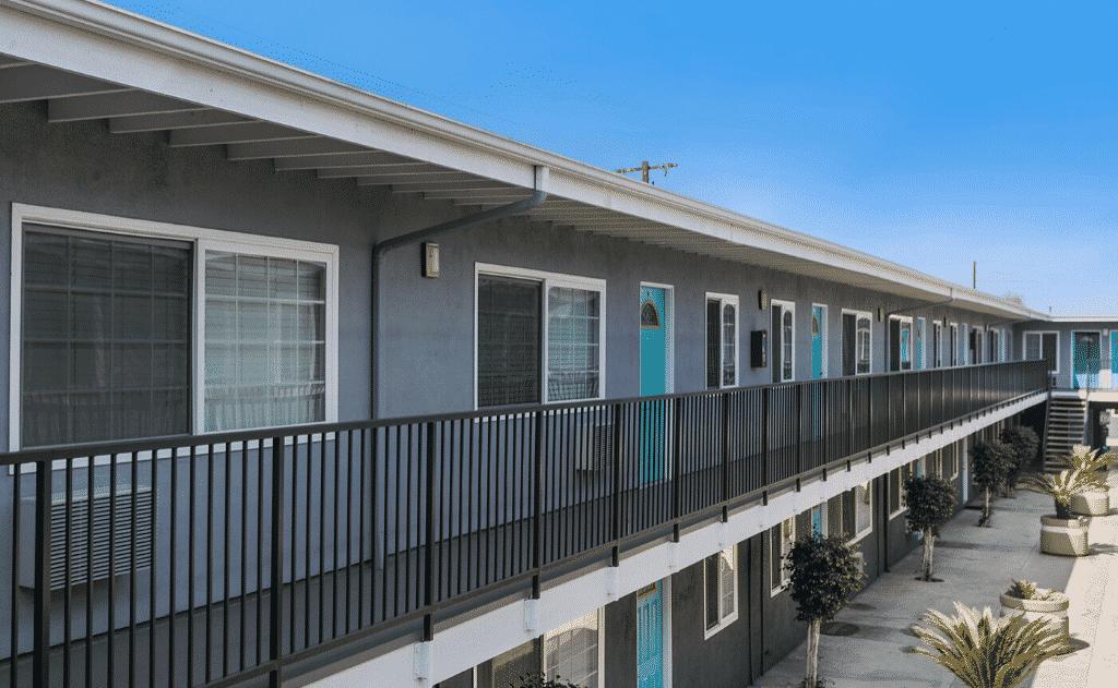 Exterior of second floor apartment units