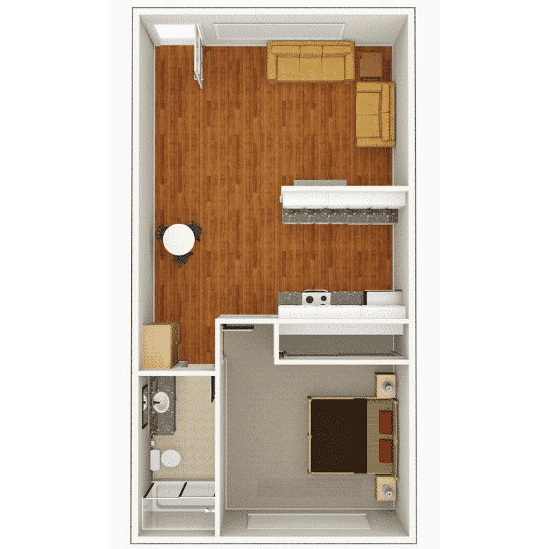 1 BED 1 BATH 700 Sq. Ft. floor plan