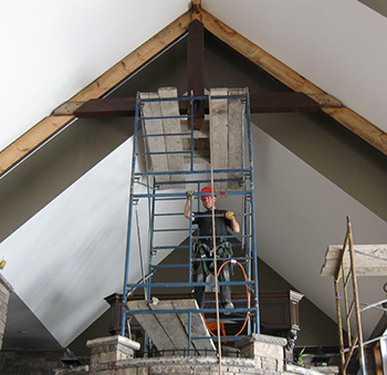 Timber Frame Great Room Ceiling