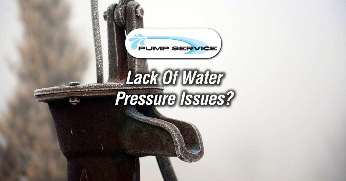 Lack Of Water Pressure Issues
