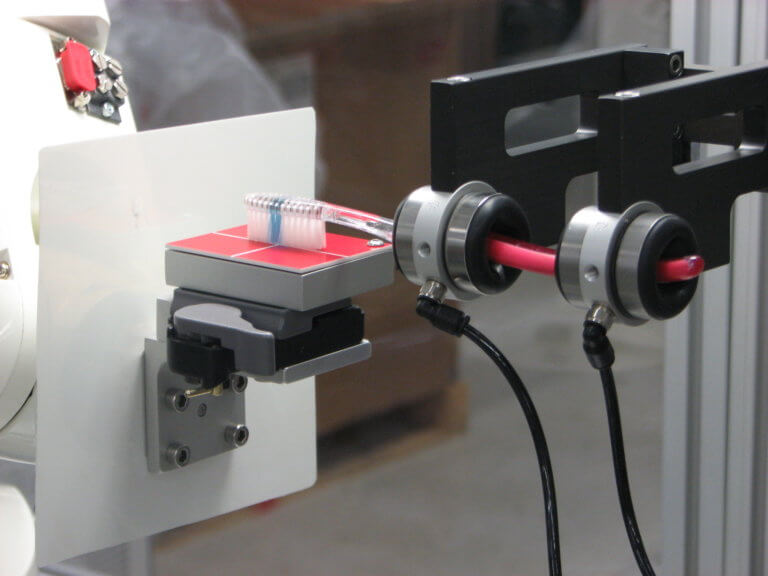 Testing for a robotic high resolution force feedback system.